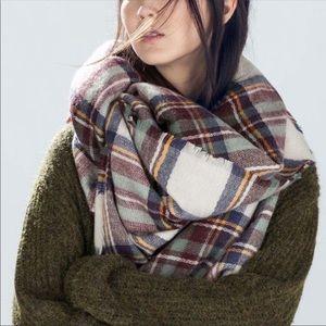 Bloggers Favorite Zara Plaid Blanket Scarf